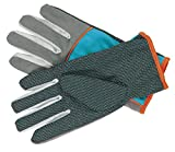 ANHPI Ladies Gardening Waterproof Non-slip Breathable Dirt Flower Planting Gloves Blue + Gray Multi-size,Blue+Gray
