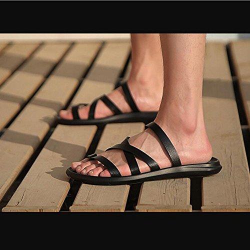 spiaggia da da uomo da Scarpe Sandali Dimensione estivi Sandali da GAOLIXIA Infradito Scarpe Black Color Flop uomo uomo casual da uomo 43 parola uomo di Flip da Zwq6w85