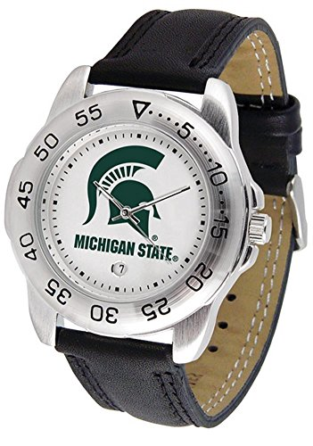 NCAA Michigan State Spartans Sport Leather Watch ()