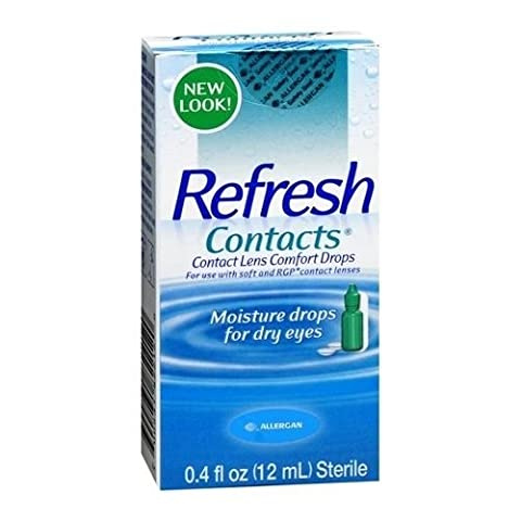 REFRESH CONTACTS Contact Lens Comfort Moisture Drops 0.4 OZ - Buy Packs and SAVE (Pack of 2) (Refresh Contacts)