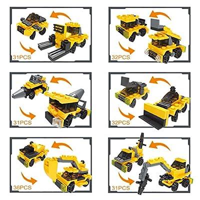JOYIN 12 Pcs Prefilled Easter Eggs with Construction Vehicles Building Blocks: Toys & Games