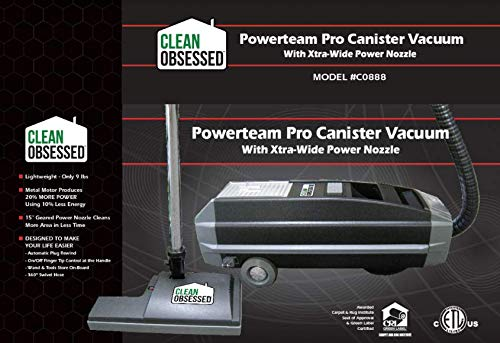 Clean Obsessed Powerteam Pro Canister Vacuum