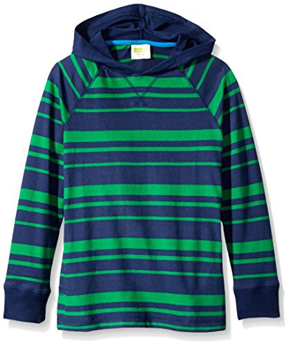 Crazy 8 Little Boys' Jolly Green Stripe Hoodie, Jolly Green, Small/5-6