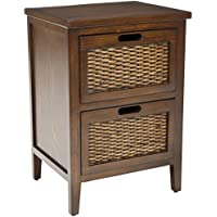 Safavieh American Homes Collection Jonah Dark Teak 2-Drawer End Table