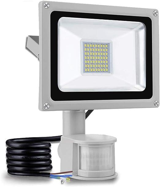 30W focos led exterior con sensor movimiento,led luz exterior ...