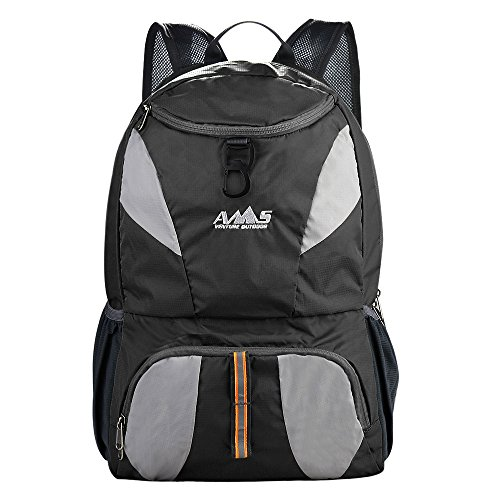 AMS 35L Larger Most Durable Packable Lightweight Waterproof Travel Hiking Backpack Daypack (Black) Review