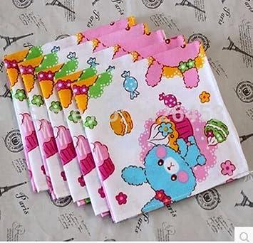 Svi 10pcs mejor calidad para lavar toallas de mano cuadrado pañuelo Squares algodón toalla de mano para niños Navidad/cumpleaños regalo 24 x 24 cm: ...
