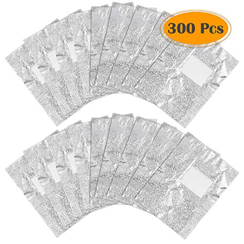 Anezus 300pcs Gel Nail Polish Remover Glitter Soak Off Foil Nail Wraps with Cotton Pad for Gel Removal