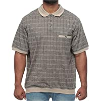 Harbor Bay Big and Tall Mesh Banded-Bottom Knit Shirt for Men
