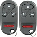 KeylessOption Keyless Entry Remote Control Car Key Fob Replacement for E4EG8DJ (Pack of 2)