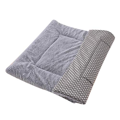 Pet Bed for Dog Cat Bed Puppy Cushion House Pet Soft Warm Mat Blanket Pet Supplies Mat Blanket Homes for Pets Deluxe Pet Beds Washable Dog Mattress Pets Kennel Pads Dog Bed Lounge Sofa (S, Gray)
