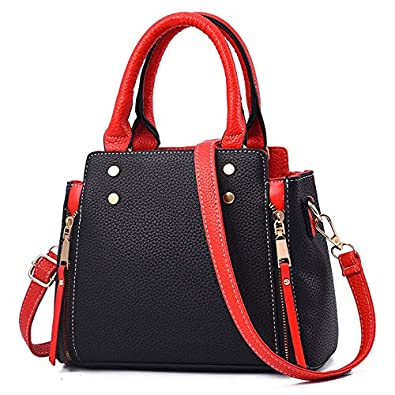 5bbba59e3c Image Unavailable. Image not available for. Color  Mara s Dream New Fashion Women  Handbag Patchwork PU Leather ...