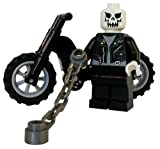 Ghost Rider - LEGO Custom Minifigure with Chain Whip and Motorcycle