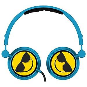 Cool Emoji - Swivel Adjustable Headband Stereo On-Ear Headphones W/In-Line Mic