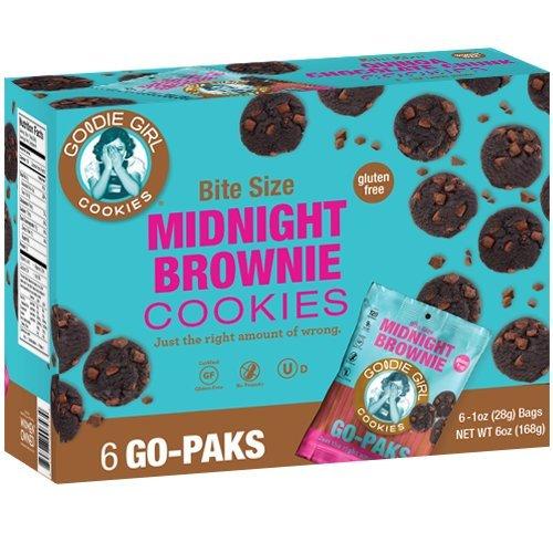 Goodie Girl Cookies - Gluten Free - Midnight Brownie - 2 Count Go Pak (Bites Snack Pak)