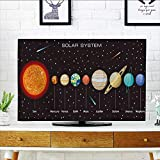 Analisahome tv Protective Cover Planets Vector Set on Background Our Solar System tv Protective Cover W35 x H55 INCH/TV 60''
