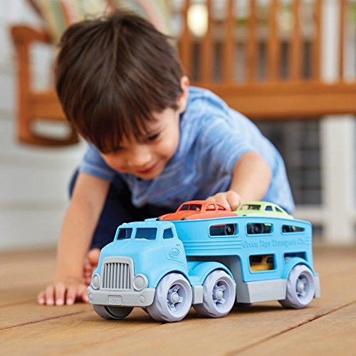 51SJ9iYN%2B3L - Green Toys Car Carrier Vehicle Set Toy, Blue