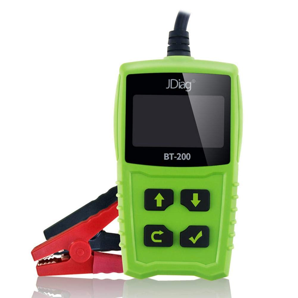 Zigtee JDiag FasCheck BT200 12V Auto Battery Tester Car Cranking and Charging System Test Scan Tool Battery Analyzer Diagnostic Tool for CCA MCA JIS DIN IEC EN SAE GB etc