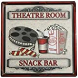 UR Home Decor Metal Tin SignTheater Snack Bar Tin Sign Vintage Metal Plaque  Poster Bar Pub