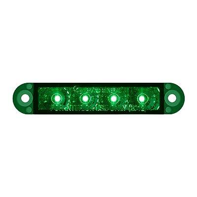 "GG Grand General 76076 Light Bar (3-1/2"" Flush Mount Green 4 LED, 3 Wires): Automotive"