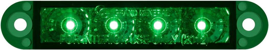 3-1//2 Flush Mount Green 4 LED, 3 Wires GG Grand General 76076 Light Bar