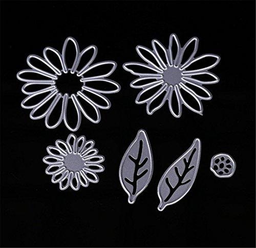 Mvchif Cutting Dies Metal Stencils Scrapbooking Tool DIY Craft Carbon Steel Embossing Template for Paper Card Making (Flower)