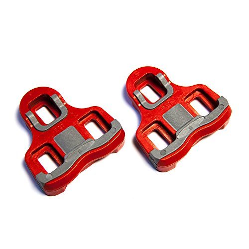PowerTap P1 Bicycle Pedal Replacement Cleats (Red, 6 Degrees)