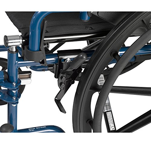 Drive Medical Blue Streak Wheelchair with Flip Back Desk Arms, Swing Away Footrests, 18'' Seat by Drive Medical (Image #5)