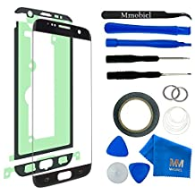 MMOBIEL Front Glass for Samsung Galaxy S7 Edge (Black) G935 Series Display Touchscreen incl Tool Kit / Pre-cut Sticker / Tweezers/ Roll of 2mm Adhesive Tape / Suction Cup / Metal Wire / cleaning cloth