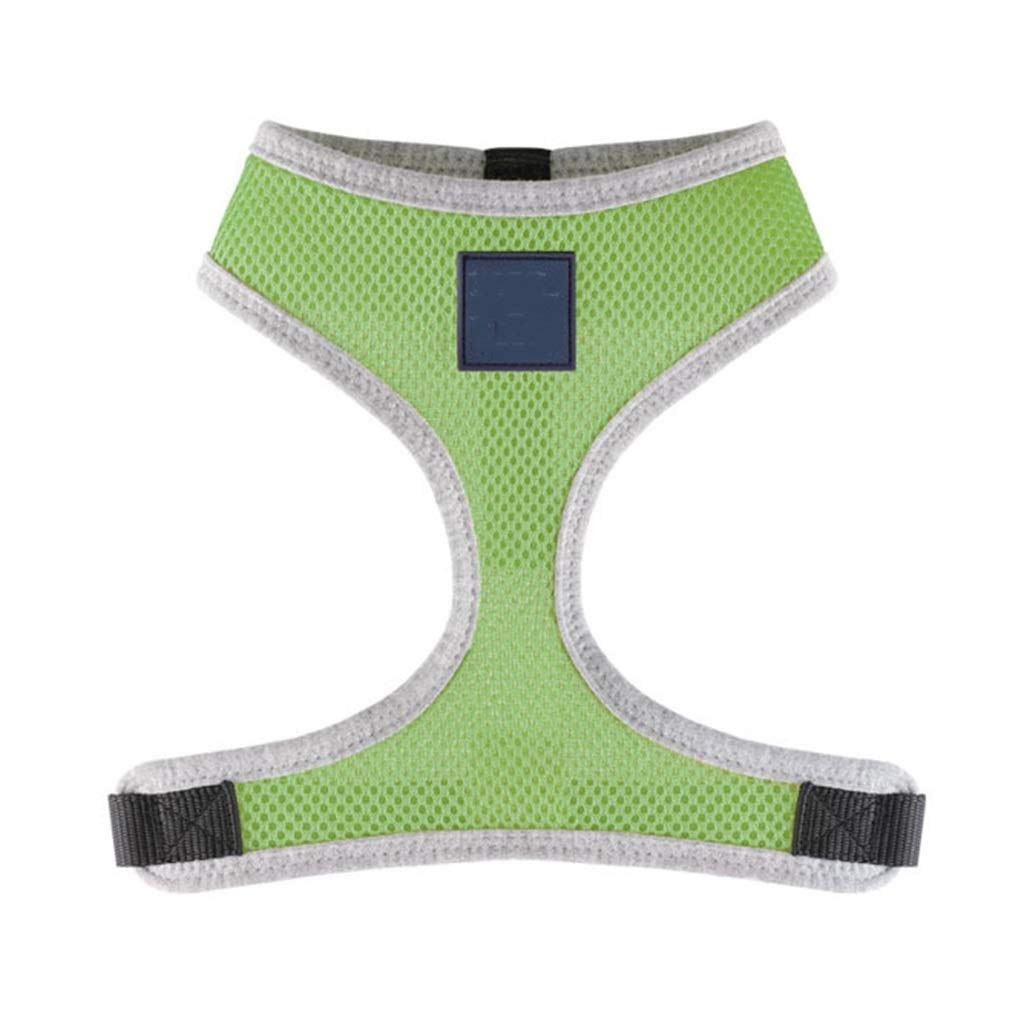 GREEN L GREEN L Dog Vest Harness, Adjustable Refletive Chest Strap Outdoor Training Walking Pet Soft Mesh for Large Medium Small Dog Safety Traction (color   Green, Size   L)