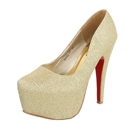 28003 Zapatos de mujer Gold B443S-WT
