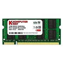Komputerbay 2GB DDR2 800MHz PC2-6300 PC2-6400 DDR2 800 (200 PIN) SODIMM Laptop Memory