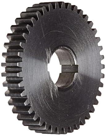 "Boston Gear GA41 Plain Change Gear, 14.5 Degree Pressure Angle, 20 Pitch, 0.625"" Bore, 41 Teeth, Steel"