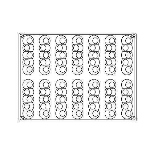PAVONI Bachour Silicone Mold - Pelota - 14 forms