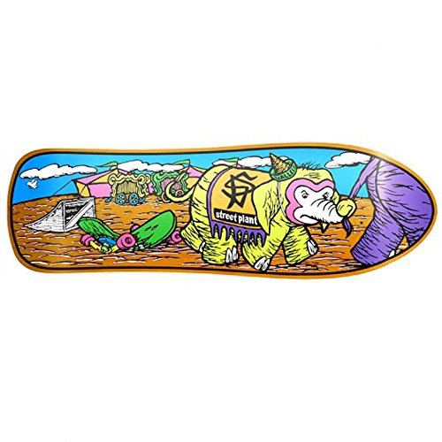 Circus Skateboard Deck - Street Plant Mike Vallely Circus Mini Skateboard Deck World Industries Orange