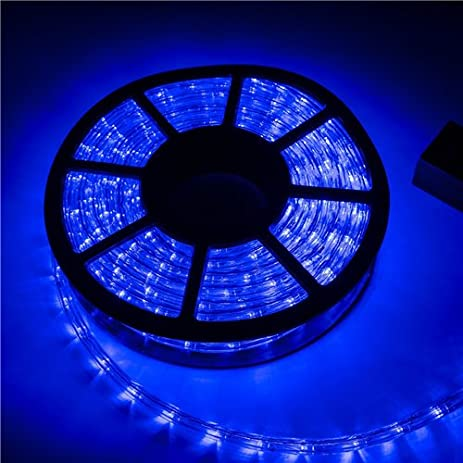 Amazon 5a parts blue led rope lights strips 100 feet 30m 5a parts blue led rope lights strips 100 feet 30m christmas holiday decoration lighting indoor aloadofball Images