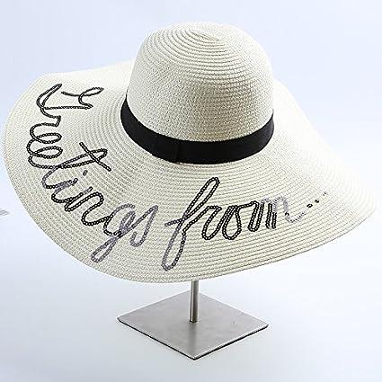 YXLMZ Señoras Mujeres Sombreros Sombreros de Cartas de ...