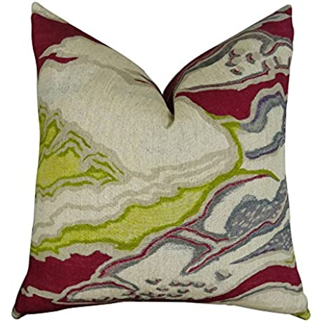 Plutus Brands Plutus Chattingham Handmade Throw Pillow 20 X 26 Beet Beige Gray
