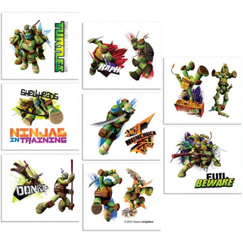 16-Piece Teenage Mutant Ninja Turtles Tattoos, Multicolored