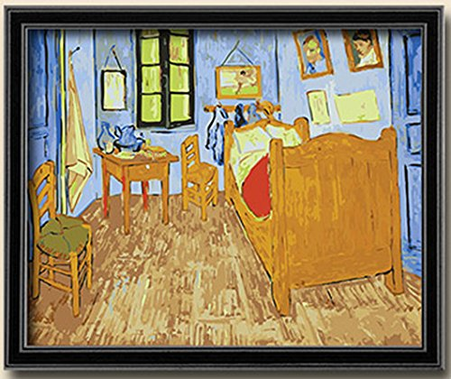 Diy painting, paint by number kit-Charming Autumn 1620 inches Frameless (Bedroom in Arles by Van Gogh)