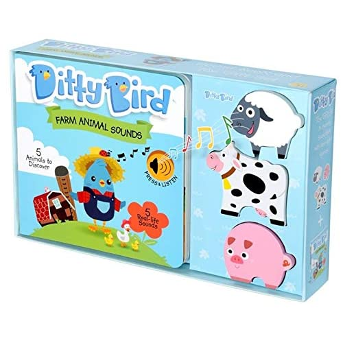 Ditty Bird Our Best Gift Box Interactive Musical Noisy Farm Animals Book And Toy