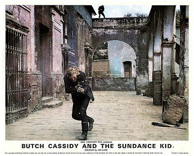 Butch Cassidy & The Sundance Kid Original Lobby Card Redford Fires Gun