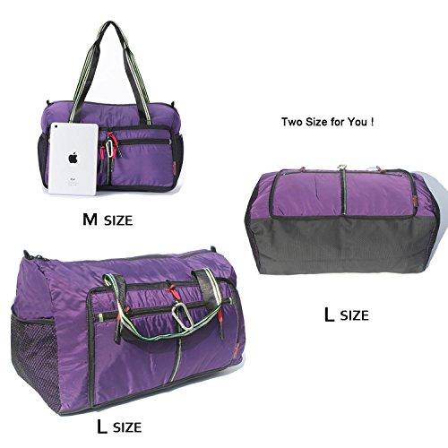 Foldable Travel Bag Duffle Bag Organizer Storage Lightweight Sports Gym Tote Bag by Alpaca Go (Image #4)