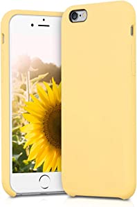 kwmobile TPU Silicone Case Compatible with Apple iPhone 6 / 6S - Soft Flexible Rubber Protective Cover - Yellow Matte