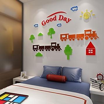 LINA-Zug Acryl 3D-Wand kindergarten Cartoon Kinderzimmer ...