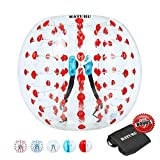 Inflatable Bumper Balls for Adults/Kids, Human Hamster Ball 5 ft /4 ft, Bumper Bubble Soccer Ball W/Ultra Thick PVC (Upgraded Red Dot, 5 FT)