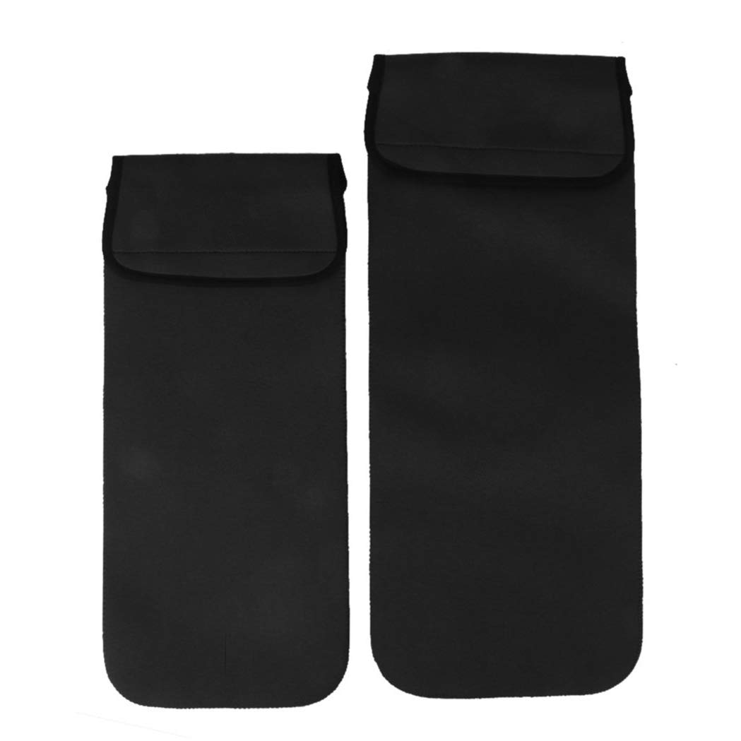 HarmonyHappy Thermal Insulation Bag Insulated Bag Pouch Water Bladder Storage Bag Black Large