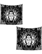 Burning Tapestry hekserij muur opknoping psychedelische deken voor slaapkamer decor 100x150cm
