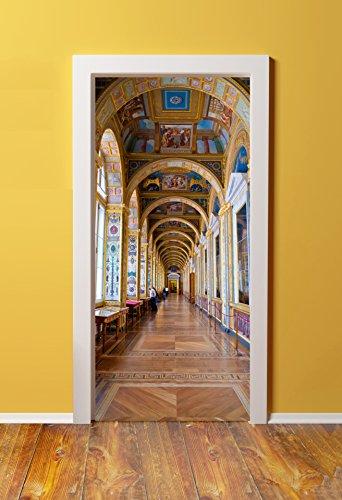 DoorPix 36x80 / 36 x 80'' 3D Door Mural Wrap Glossy Bubble Free Sticker Versailles Castle Hallway interior - PEEL and STICK - Easy-to-clean, Durable by Windowpix