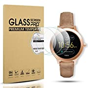 Diruite 3-Pack for Fossil Q Venture Gen 3 Screen Protector, 2.5D 9H Hardness Tempered Glass Screen Protector for Q Venture Smart Watch